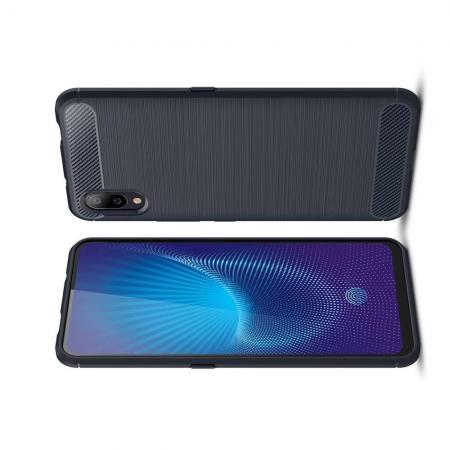 Carbon Fibre Силиконовый матовый бампер чехол для Vivo NEX S Синий