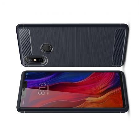 Carbon Fibre Силиконовый матовый бампер чехол для Xiaomi Mi 8 SE Синий