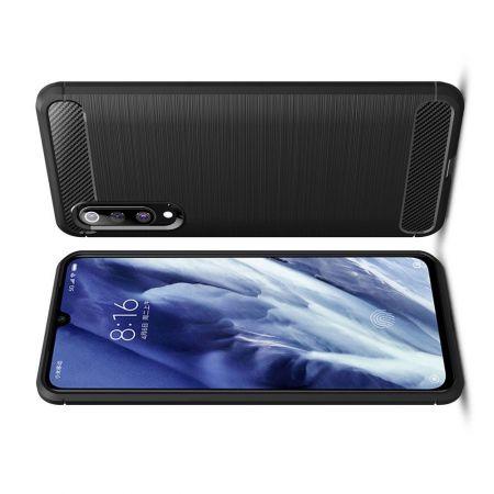Carbon Fibre Силиконовый матовый бампер чехол для Xiaomi Mi 9 Pro Черный