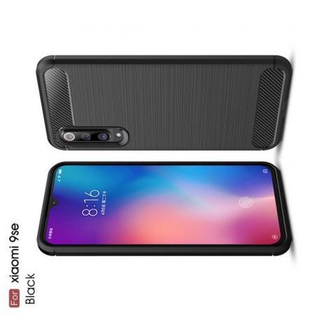 Carbon Fibre Силиконовый матовый бампер чехол для Xiaomi Mi 9 SE Черный