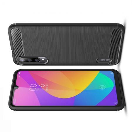 Carbon Fibre Силиконовый матовый бампер чехол для Xiaomi Mi A3 Черный