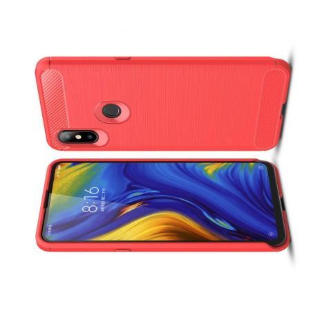 Carbon Fibre Силиконовый матовый бампер чехол для Xiaomi Mi Mix 3 Коралловый