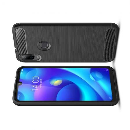 Carbon Fibre Силиконовый матовый бампер чехол для Xiaomi Mi Play Черный