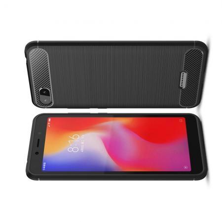 Carbon Fibre Силиконовый матовый бампер чехол для Xiaomi Redmi 6A Черный