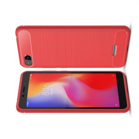 Carbon Fibre Силиконовый матовый бампер чехол для Xiaomi Redmi 6A Коралловый