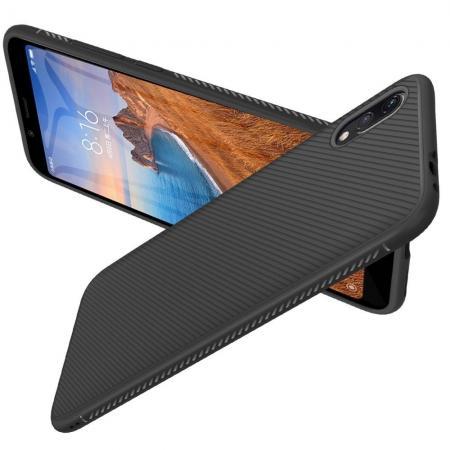 Carbon Fibre Силиконовый матовый бампер чехол для Xiaomi Redmi 7A Черный