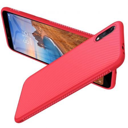 Carbon Fibre Силиконовый матовый бампер чехол для Xiaomi Redmi 7A Красный