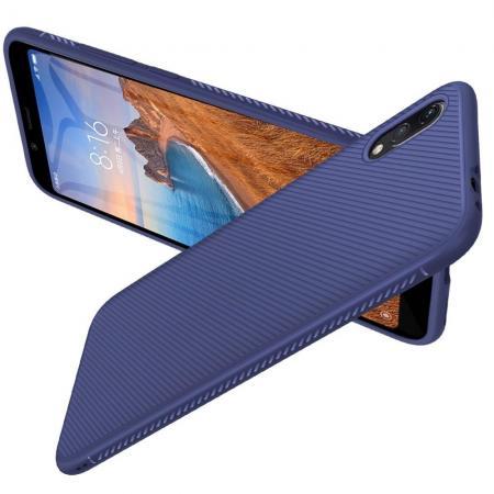 Carbon Fibre Силиконовый матовый бампер чехол для Xiaomi Redmi 7A Синий