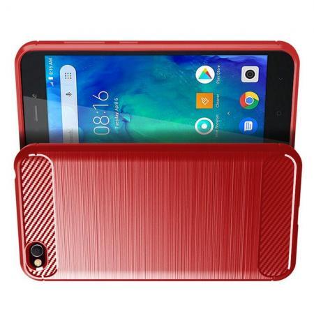 Carbon Fibre Силиконовый матовый бампер чехол для Xiaomi Redmi Go Коралловый