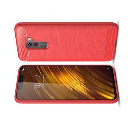 Carbon Fibre Силиконовый матовый бампер чехол для Xiaomi Redmi Note 8 Pro Коралловый