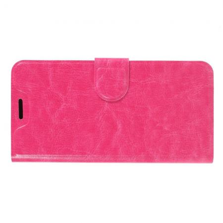 Чехол Книжка из Гладкой Искусственной Кожи для Huawei P30 с Кошельком для Карты Розовый