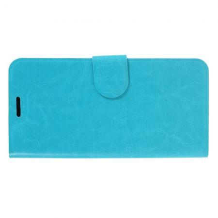 Чехол Книжка из Гладкой Искусственной Кожи для Huawei P30 с Кошельком для Карты Голубой