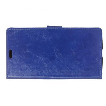 Чехол Книжка из Гладкой Искусственной Кожи для LG K11+ / K11 Plus с Кошельком для Карты Синий