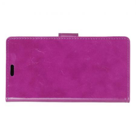 Чехол Книжка из Гладкой Искусственной Кожи для LG K11+ / K11 Plus с Кошельком для Карты Фиолетовый
