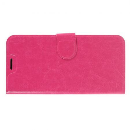 Чехол Книжка из Гладкой Искусственной Кожи для Samsung Galaxy M10 с Кошельком для Карты Розовый