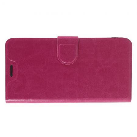 Чехол Книжка из Гладкой Искусственной Кожи для Xiaomi Redmi Note 5A 2/16gb с Кошельком для Карты Розовый