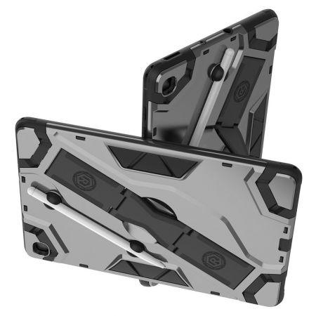 Defender Бронированный Противоударный Чехол Бампер для Samsung Galaxy Tab S6 Lite 10.4 Черный