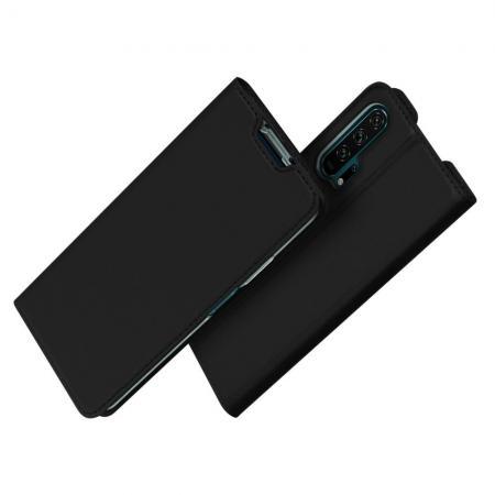 DUX DUCIS Тонкий Флип Чехол Книжка с Скрытым Магнитом и Отделением для Карты для Huawei Honor 20 Pro Черный