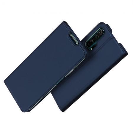 DUX DUCIS Тонкий Флип Чехол Книжка с Скрытым Магнитом и Отделением для Карты для Huawei Honor 20 Pro Синий