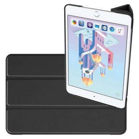 Двухсторонний Чехол Книжка для планшета Apple iPad mini 2019 Искусственно Кожаный с Подставкой Черный