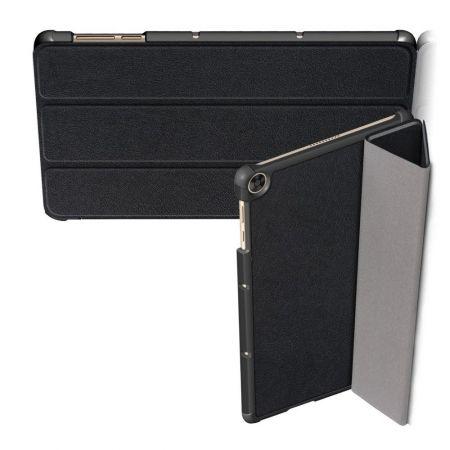Двухсторонний Чехол Книжка для планшета Huawei MatePad T10 / T10s Искусственно Кожаный с Подставкой Черный