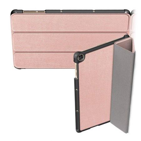 Двухсторонний Чехол Книжка для планшета Huawei MatePad T10 / T10s Искусственно Кожаный с Подставкой Розовое Золото
