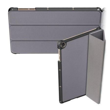 Двухсторонний Чехол Книжка для планшета Huawei MatePad T10 / T10s Искусственно Кожаный с Подставкой Серый