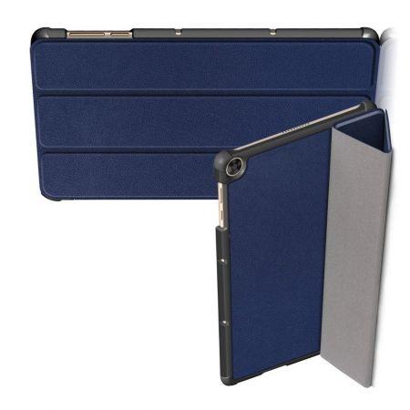 Двухсторонний Чехол Книжка для планшета Huawei MatePad T10 / T10s Искусственно Кожаный с Подставкой Синий