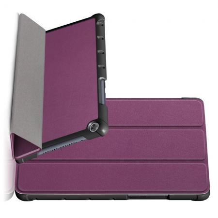 Двухсторонний Чехол Книжка для планшета Huawei MediaPad M5 Lite 8 Искусственно Кожаный с Подставкой Фиолетовый