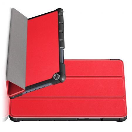 Двухсторонний Чехол Книжка для планшета Huawei MediaPad M5 Lite 8 Искусственно Кожаный с Подставкой Красный