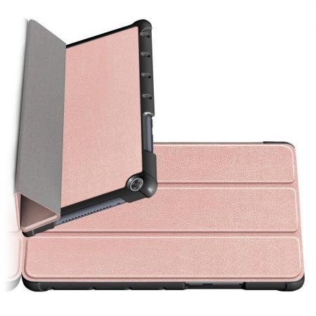 Двухсторонний Чехол Книжка для планшета Huawei MediaPad M5 Lite 8 Искусственно Кожаный с Подставкой Розовое Золото