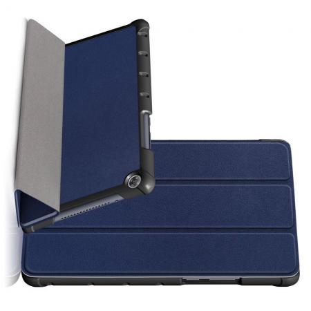 Двухсторонний Чехол Книжка для планшета Huawei MediaPad M5 Lite 8 Искусственно Кожаный с Подставкой Синий