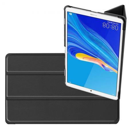 Двухсторонний Чехол Книжка для планшета Huawei MediaPad M6 8.4 Искусственно Кожаный с Подставкой Черный