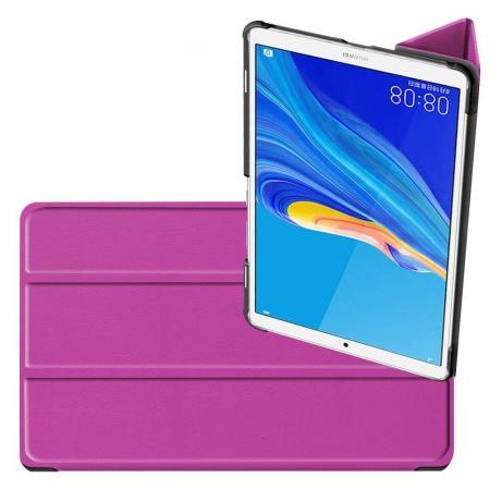 Двухсторонний Чехол Книжка для планшета Huawei MediaPad M6 8.4 Искусственно Кожаный с Подставкой Фиолетовый