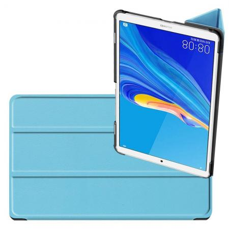 Двухсторонний Чехол Книжка для планшета Huawei MediaPad M6 8.4 Искусственно Кожаный с Подставкой Голубой