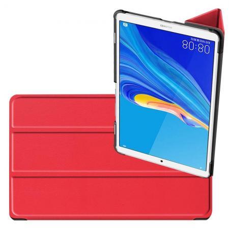 Двухсторонний Чехол Книжка для планшета Huawei MediaPad M6 8.4 Искусственно Кожаный с Подставкой Красный