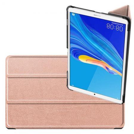 Двухсторонний Чехол Книжка для планшета Huawei MediaPad M6 8.4 Искусственно Кожаный с Подставкой Розовое Золото