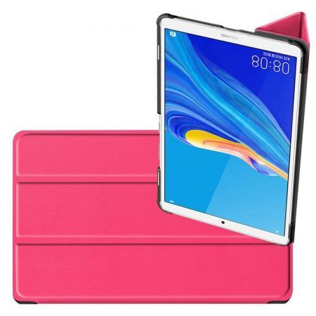 Двухсторонний Чехол Книжка для планшета Huawei MediaPad M6 8.4 Искусственно Кожаный с Подставкой Розовый
