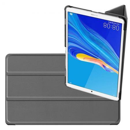 Двухсторонний Чехол Книжка для планшета Huawei MediaPad M6 8.4 Искусственно Кожаный с Подставкой Серый