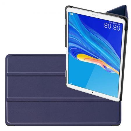 Двухсторонний Чехол Книжка для планшета Huawei MediaPad M6 8.4 Искусственно Кожаный с Подставкой Синий