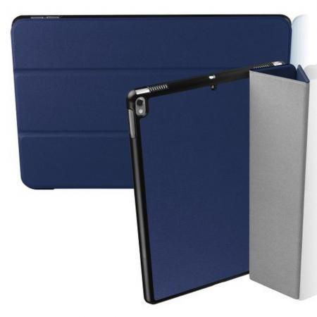 Двухсторонний Чехол Книжка для планшета iPad Air 10.5 2019 Искусственно Кожаный с Подставкой Синий