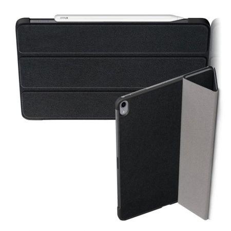 Двухсторонний Чехол Книжка для планшета iPad Air 2020 Искусственно Кожаный с Подставкой Черный