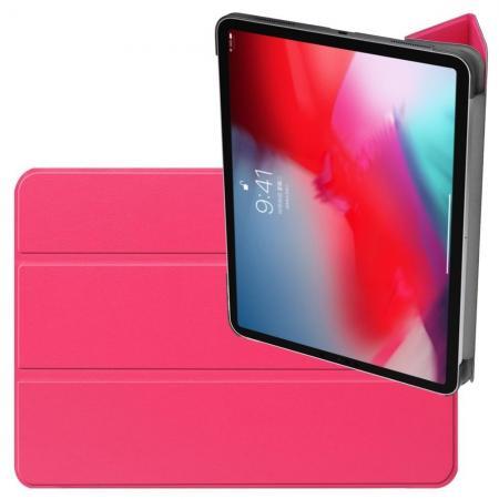 Двухсторонний Чехол Книжка для планшета iPad Pro 11 2018 Искусственно Кожаный с Подставкой Розовый