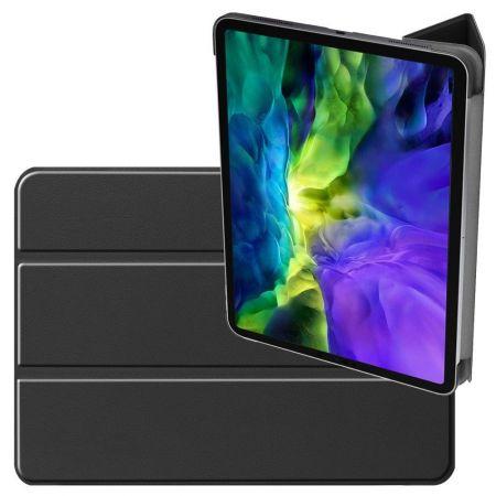 Двухсторонний Чехол Книжка для планшета iPad Pro 11 2020 Искусственно Кожаный с Подставкой Черный