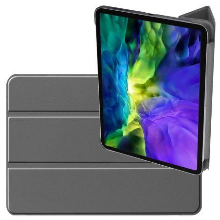 Двухсторонний Чехол Книжка для планшета iPad Pro 11 2020 Искусственно Кожаный с Подставкой Серый