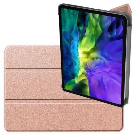 Двухсторонний Чехол Книжка для планшета iPad Pro 11 2020 Искусственно Кожаный с Подставкой Золотой