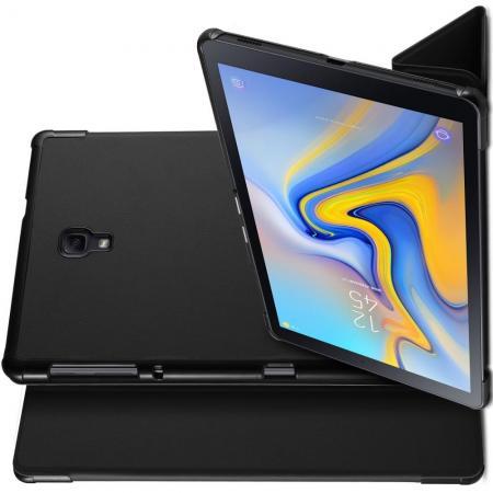Двухсторонний Чехол Книжка для планшета Samsung Galaxy Tab A 10.5 SM-T595 SM-T590 Искусственно Кожаный с Подставкой Черный