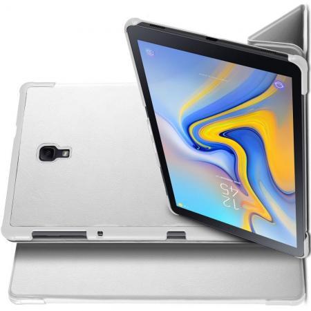 Двухсторонний Чехол Книжка для планшета Samsung Galaxy Tab A 10.5 SM-T595 SM-T590 Искусственно Кожаный с Подставкой Белый