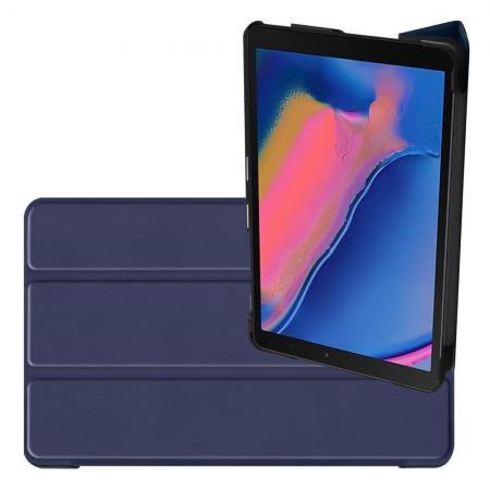 Двухсторонний Чехол Книжка для планшета Samsung Galaxy Tab A 8.0 2019 SM-P200 SM-P205 Искусственно Кожаный с Подставкой Синий