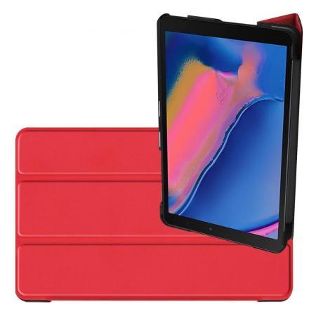 Двухсторонний Чехол Книжка для планшета Samsung Galaxy Tab A 8.0 2019 SM-P200 SM-P205 Искусственно Кожаный с Подставкой Красный